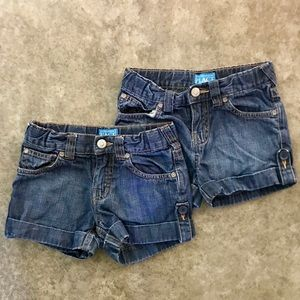 Two Children's Place denim shorts